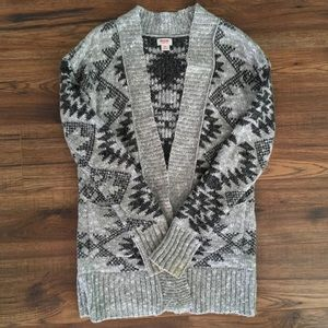 Mossimo Black and Grey Knit Cardigan